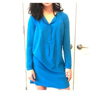 Madewell : Broadway and Broome blue silk dress